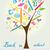 arbre · éducation · icônes · vecteur · papier - photo stock © jelen80
