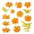 frame · collectie · cute · retro · bloemen - stockfoto © jet