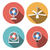 set of fan icons in flat style vector object stock photo © jiaking1