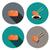 set of sashimi salmon icon in flat style vector stock photo © jiaking1