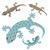 decorativo · isolado · desenho · animado · lagarto · branco · arte - foto stock © jiaking1
