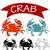 caranguejo · arte · bocado · concha · marinha - foto stock © jiaking1