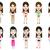 conjunto · simples · ilustração · mulher · crianças - foto stock © jiaking1