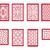 set of chinese pattern window with frame stock photo © jiaking1