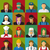 set of 16 woman job icons in flat with long shadow stock photo © jiaking1