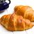 dois · croissants · branco · mesa · de · madeira · tabela · pão - foto stock © jirkaejc