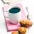 kahve · bisküvi · fincan · siyah · kahve · dizüstü · bilgisayar · kalem - stok fotoğraf © jirkaejc