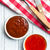 various barbecue sauces in ceramic bowls stock photo © jirkaejc