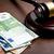bíró · kalapács · Euro · számlák · felső · kilátás - stock fotó © jirkaejc