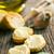 bruschetta · gyógynövény · vaj · öreg · fa · asztal · étel - stock fotó © jirkaejc