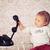 weinig · baby · oude · vintage · telefoon · glimlach - stockfoto © jirkaejc