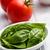 свежие · базилик · помидоров · белый · пластина · завода - Сток-фото © jirkaejc