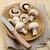 button mushroomson kitchen table stock photo © jirkaejc