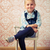kislány · ül · szék · retro · szemek · haj - stock fotó © jirkaejc