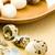 főtt · tojások · konyhaasztal · étel · természet · tojás - stock fotó © jirkaejc