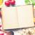 receta · libro · mesa · de · cocina · madera · cocina · mesa - foto stock © jirkaejc