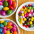 tres · diferente · colorido · cerámica · bolos - foto stock © jirkaejc