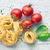 italian pasta tagliatelle tomatoes and basil leaves stock photo © jirkaejc