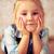 gyönyörű · kislány · padló · szemek · haj · vicces - stock fotó © jirkaejc