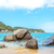 тропический · пляж · пород · пальмами · синий · морем - Сток-фото © jkraft5