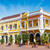 citromsárga · fehér · gyarmati · épület · történelmi · központ - stock fotó © jkraft5