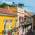 amarelo · branco · colonial · varanda · histórico · centro - foto stock © jkraft5
