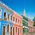 színes · épület · LA · környék · történelmi · központ - stock fotó © jkraft5