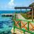 houten · dok · turkoois · water · caribbean · zee - stockfoto © jkraft5