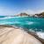 güzel · plaj · palmiye · ağaçları · mavi · caribbean · su - stok fotoğraf © jkraft5