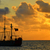 kalóz · hajó · viharos · égbolt · felhők · fa - stock fotó © jkraft5