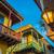 黄色 · 建物 · 白 · コロニアル · 歴史的 · 古い - ストックフォト © jkraft5
