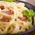 tészta · szalonna · sajt · tojás · étterem · zöld - stock fotó © joannawnuk