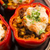 stuffed peppers with meat kidney beans and corn stock photo © joannawnuk