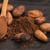 какао · бобов · ложку · продовольствие · завода - Сток-фото © joannawnuk