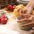 detail of child hands making apple pie stock photo © joannawnuk