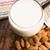 mandula · tej · sáfrány · tányér · reggeli · desszert - stock fotó © joannawnuk