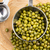 Mung beans over wooden spoon stock photo © joannawnuk
