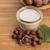 hazelnoot · melk · tabel · ontbijt · foto · witte - stockfoto © joannawnuk