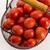 赤 · トマト · 小 · バスケット · 白 · 背景 - ストックフォト © joannawnuk