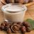 hazelnoot · melk · tabel · drinken · ontbijt · witte - stockfoto © joannawnuk