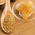 fresh bee pollen in the spoon with honeycomb stock photo © joannawnuk