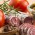 spaans · salami · witte · voedsel · achtergrond - stockfoto © joannawnuk