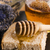 bread and jar of lavender honey stock photo © joannawnuk