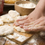 detail of hands kneading dough stock photo © joannawnuk