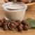 hazelnoot · melk · tabel · drinken · ontbijt · zorg - stockfoto © joannawnuk