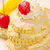 クリーミー · ケーキ · 桜 · 白 · プレート · 孤立した - ストックフォト © johnkasawa