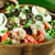 tonhal · paradicsom · olajbogyó · saláta · friss · zöld - stock fotó © johnkasawa