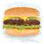 hamburguesa · primer · plano · ilustración · enorme · comida · pan - foto stock © jomaplaon