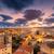Italie · coucher · du · soleil · derrière · ciel · eau - photo stock © joningall