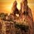 дыра · рок · Корсика · закат · драматический · оранжевый - Сток-фото © Joningall